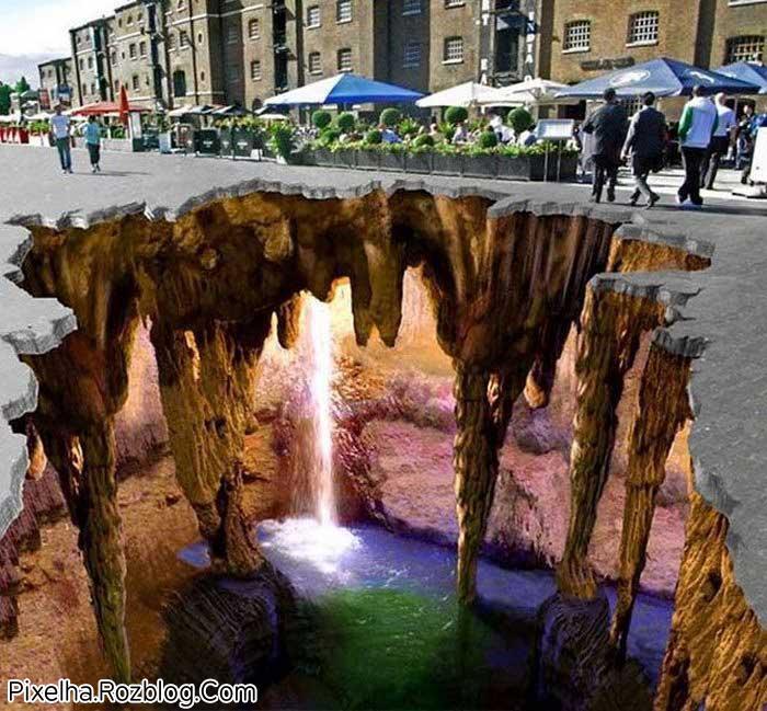 نقاشی سه بعدی خیابانی بسیار جالب