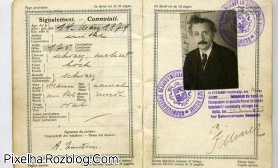عکس پاسپورت انیشتین