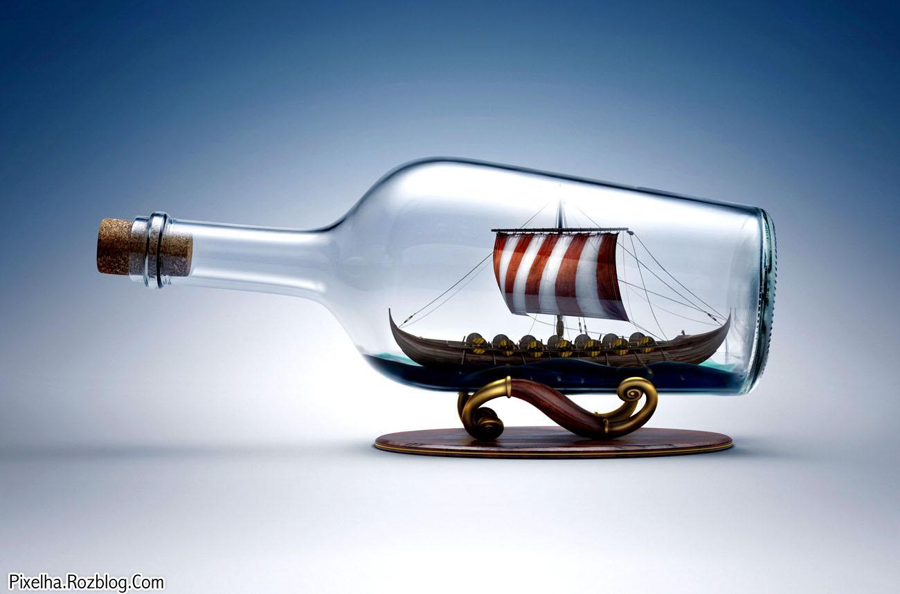 کشتی درون بطری