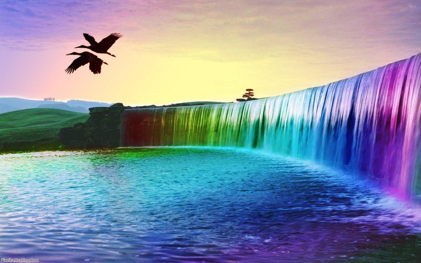آبشار رنگین کمانی