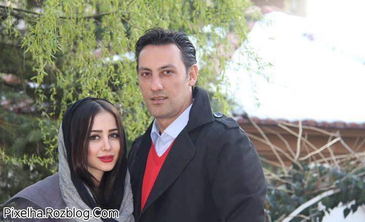 عکس الناز حبیبی و همسرش