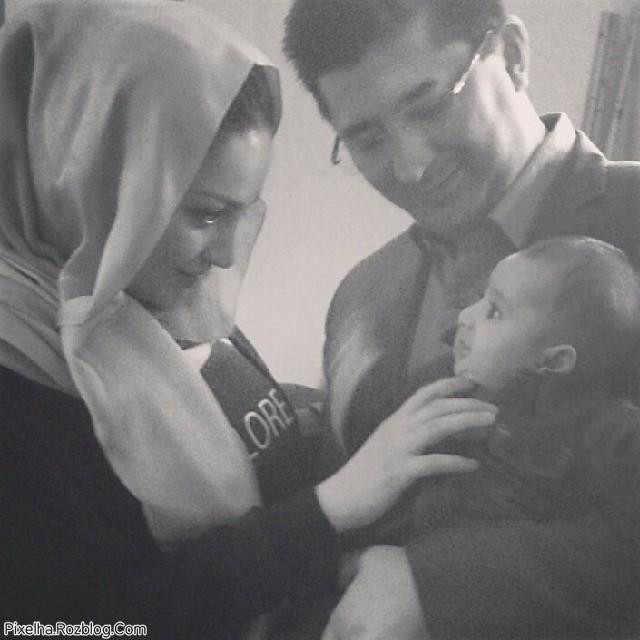عکس جدید شیلا خداداد به همراه همسر و فرزندش