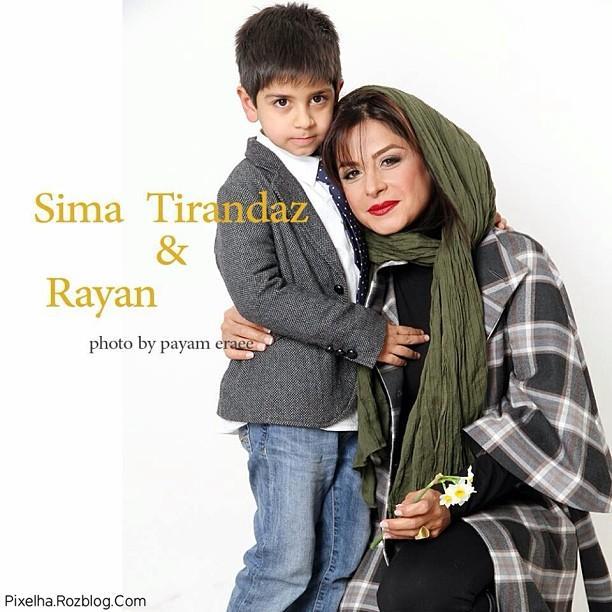 عکس سیما تیرانداز و پسرش