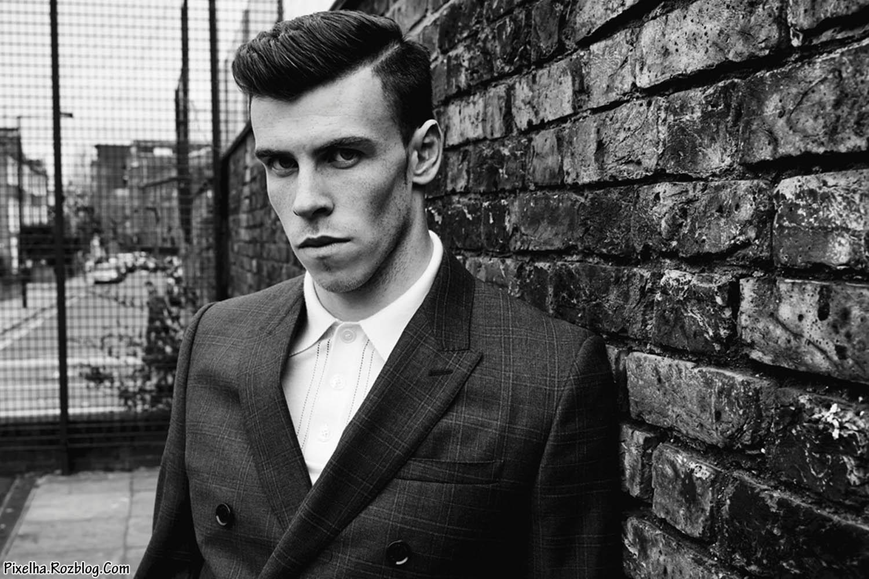 عکس سیاه سفید Gareth Bale