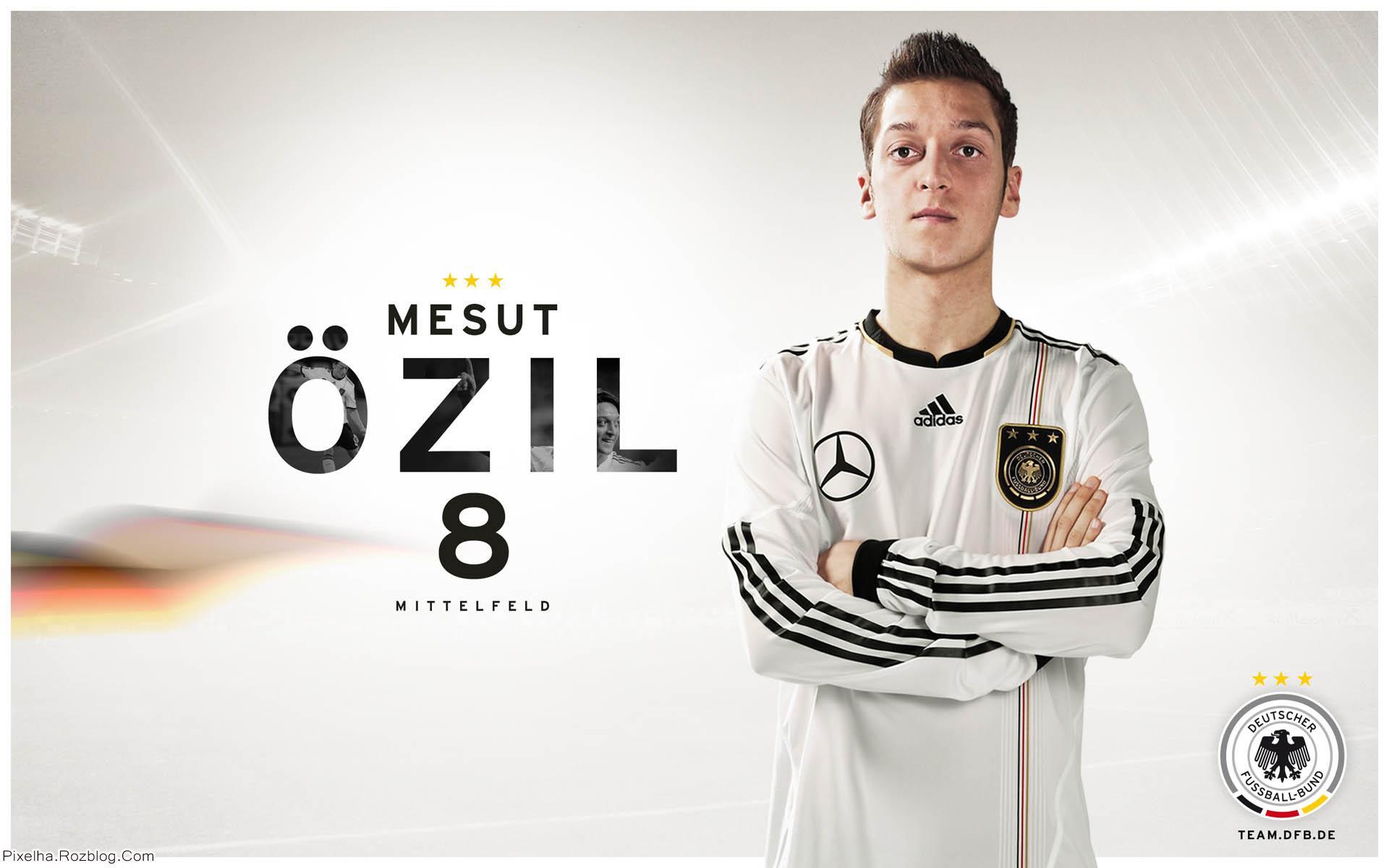 مسعود اوزیل در لباس تیم ملی آلمان