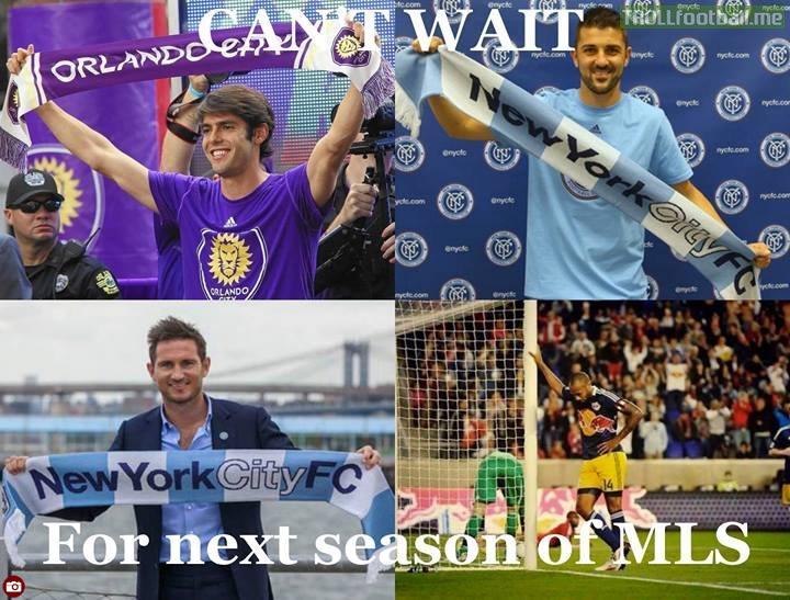 ستاره های بزرگ فوتبال در لیگ MLS آمریکا