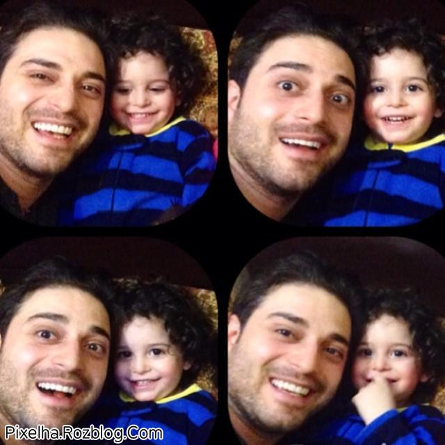 عکس بابک جهانبخش و پسرش آرتا