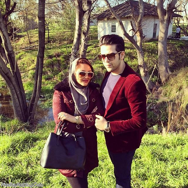 عماد طالب زاده و همسرش