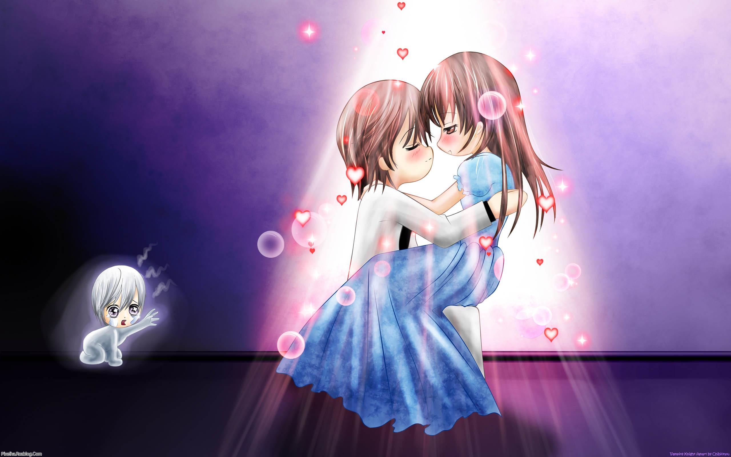 عکس کارتونی دختر و پسر در آغوش هم