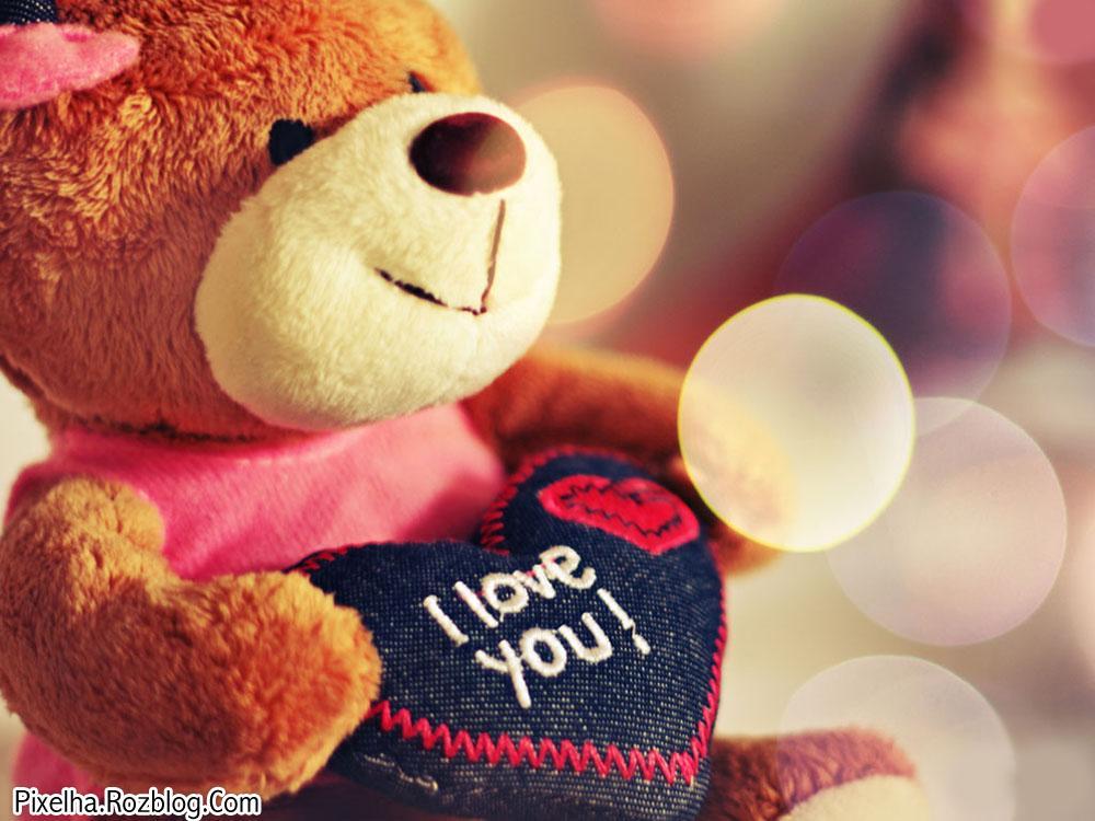 عروسک خرسی I Love You