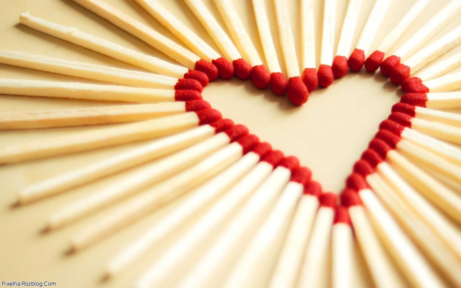 قلب چوب کبریتی