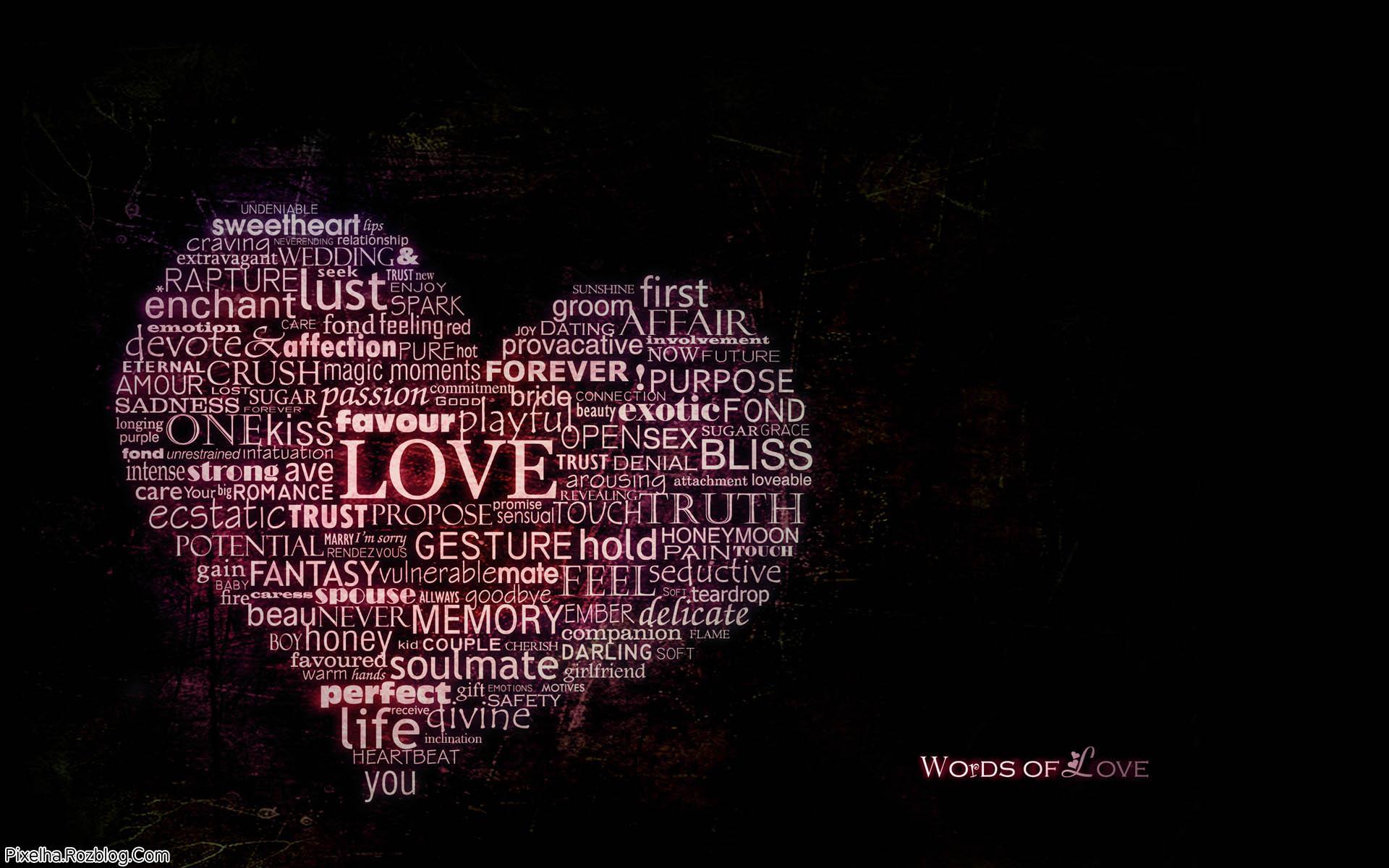 کلمات عشق