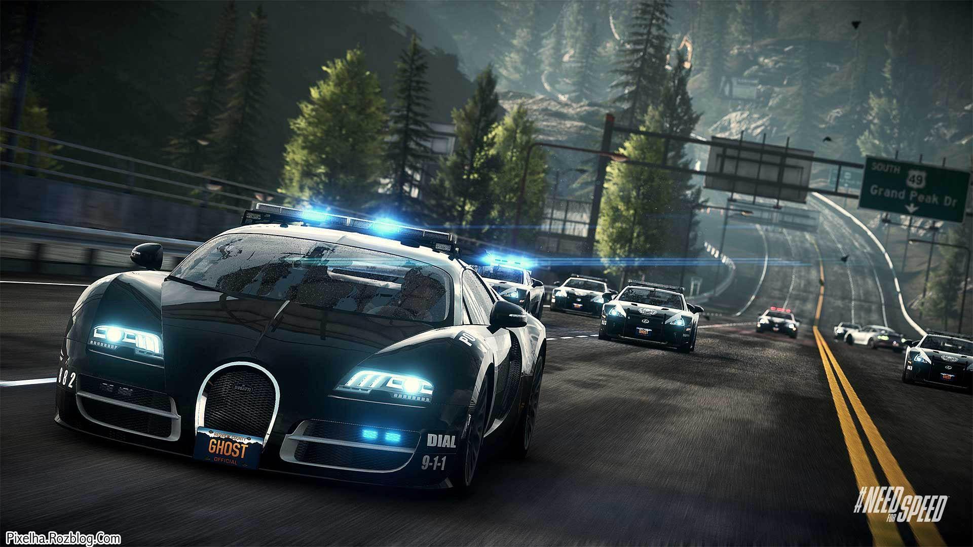 ماشین پلیس بوگاتی در بازی NFS Rivals