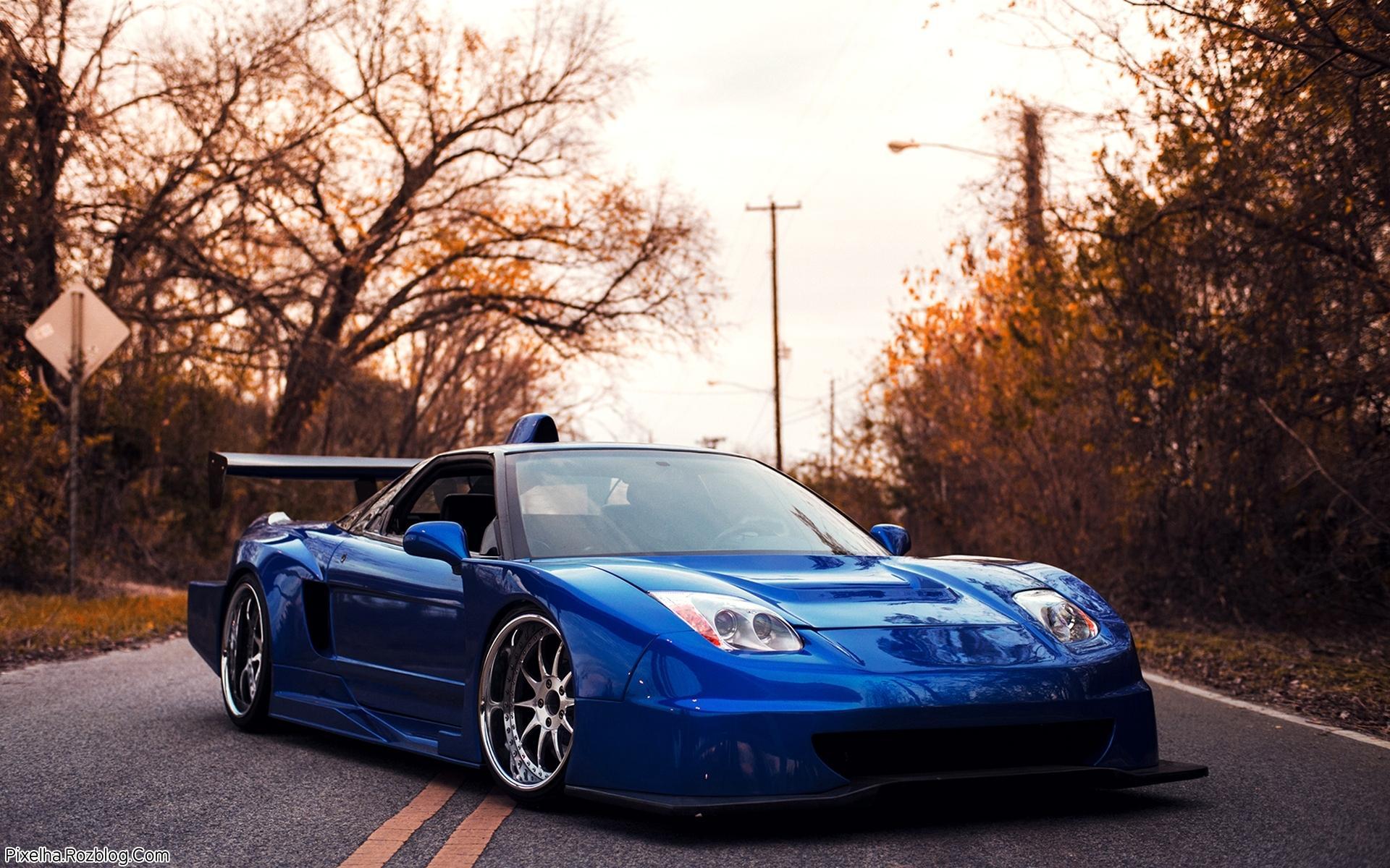 ماشین آبی Acura Nsx Tuning