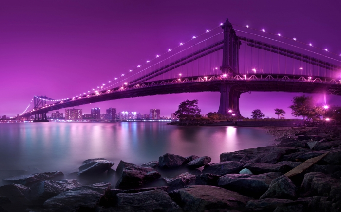 پل منهتن در نیویورک