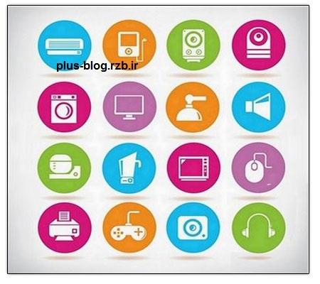 مجموعه آیکون های متنوع Different Icons Set
