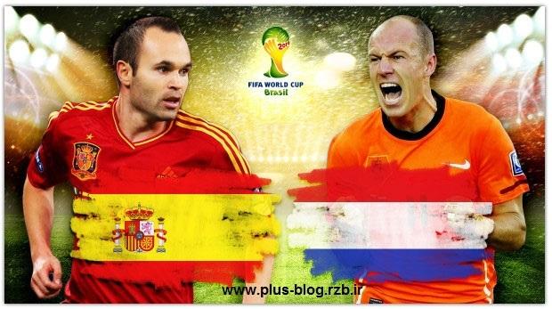 دانلود مسابقه فوتبال اسپانیا و هلند Spain vs Netherlands 2014 HD