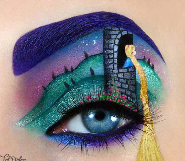 هنر خلاقانه طراحي روي چشم