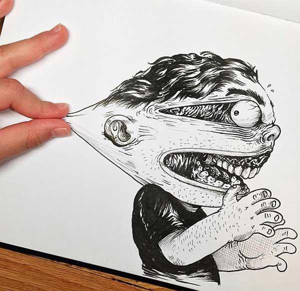ترکیب خلاقانه نقاشی با شوخی