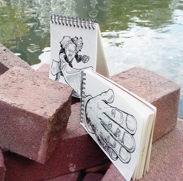 ترکيب نقاشي و عکس