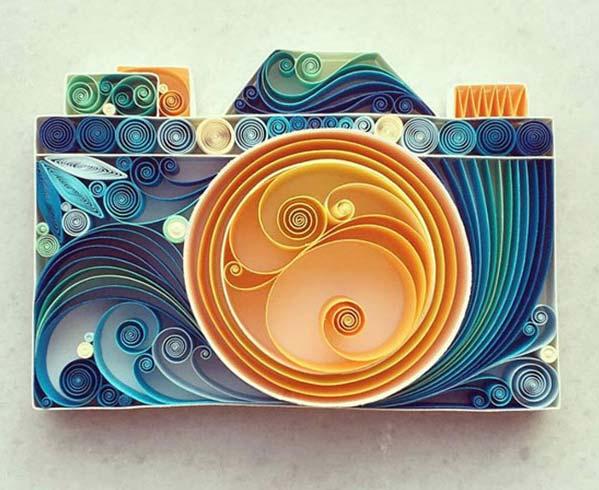 کاردستي هاي زيبا و ديدني با کاغذهاي رنگارنگ