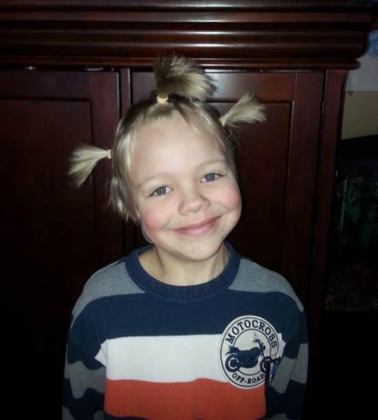 آرایش عجیب و غریب موی کودکان