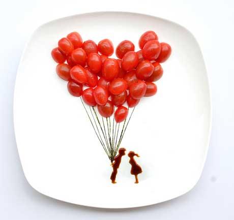 هنر نمایی با خوراکی ها
