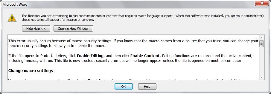 خطا در هنگام باز کردن Microsoft Word 2010