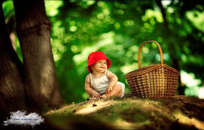 عکس زیبا از بچه ای در دل طبیعت