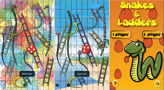 دانلود بازی خاطره انگیز مار و پله برای آندروید Snakes and Ladders Ludo 6.0