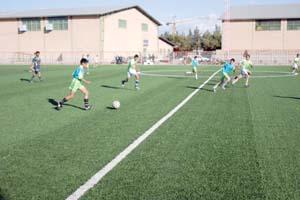 دوازدهمین زمین چمن مصنوعی مدارس استان در سرایان احداث می شود