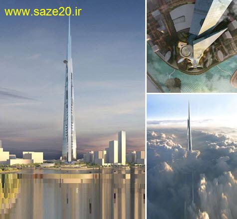 پمپاژ بتن به آسمان برای ساخت بلندترین برج جهان