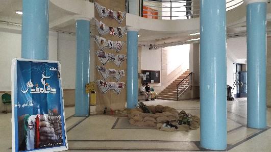 برگزاری نمایشگاه دفاع مقدس در دانشکده فنی و مهندسی