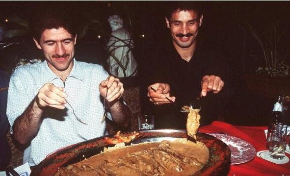 شام خوردن علی دایی و کریم باقری