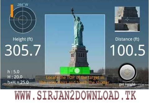 مقدار مسافت طی شده Smart Measure  Android 1.5.1