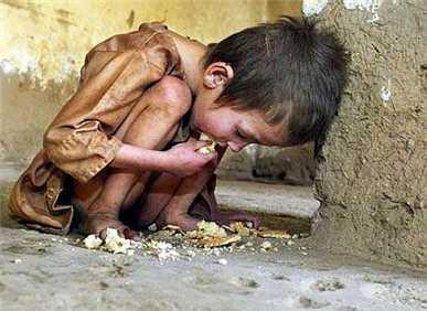 گرسنگی پسر