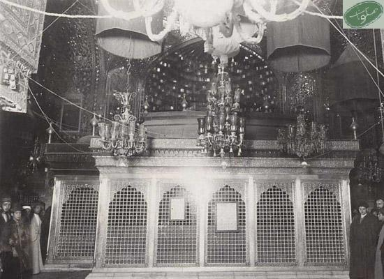 تصویری قدیمی از حرم امام حسین