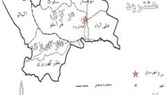 عکس نقشه هشترود و بخشهای آن