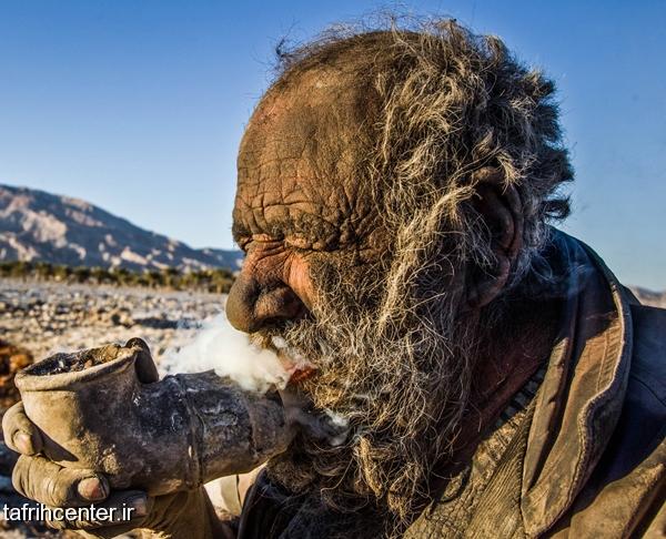 عکس گزارش خبری خبر جدید پیرمرد 80 ساله مردی  که 80 سال حمام نرفت