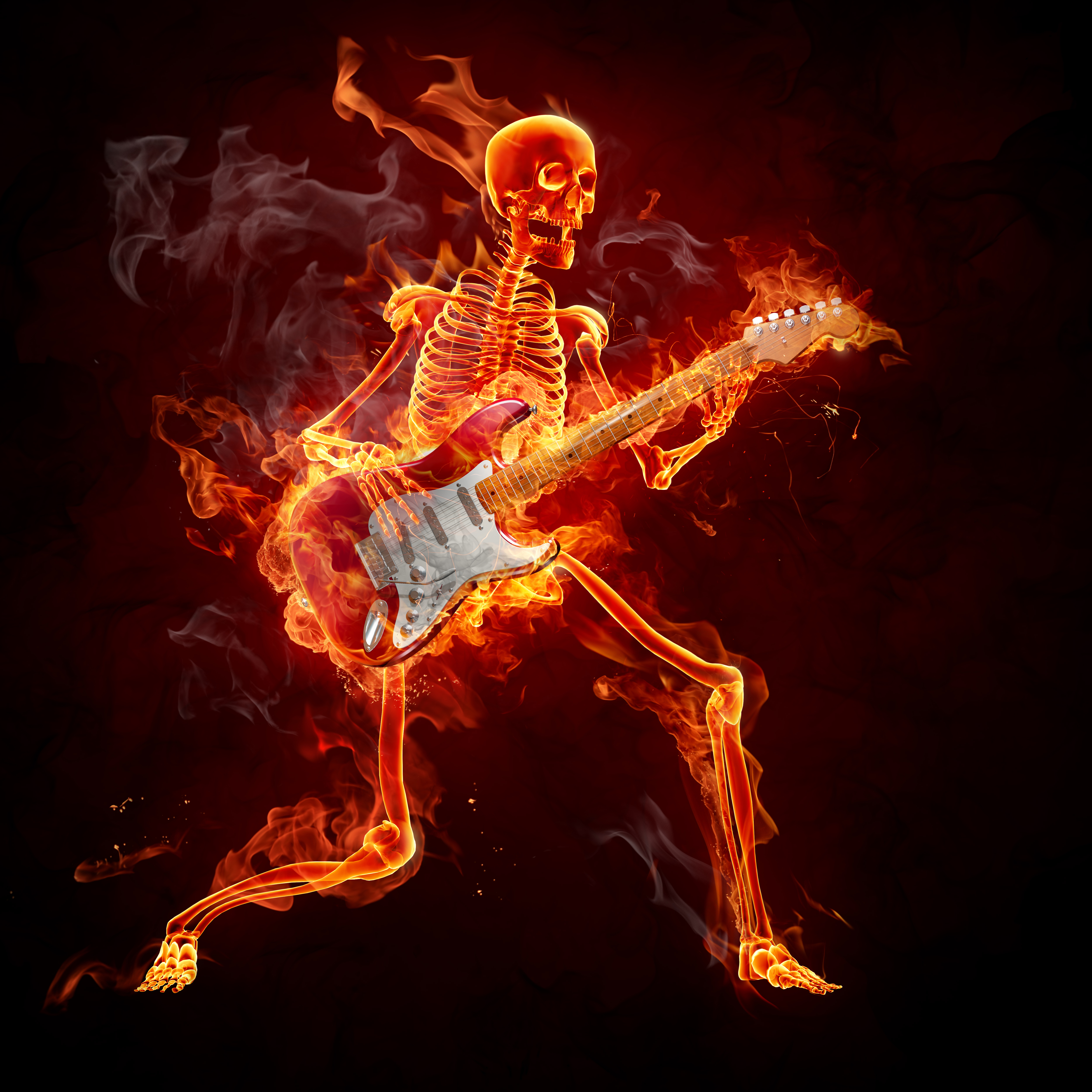 اسکلت ، آتش ، موزیک
