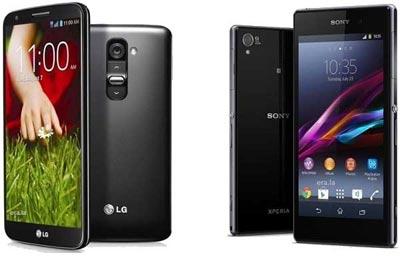 مقایسه اسمارت فون LG G2 با Sony Xperia Z1