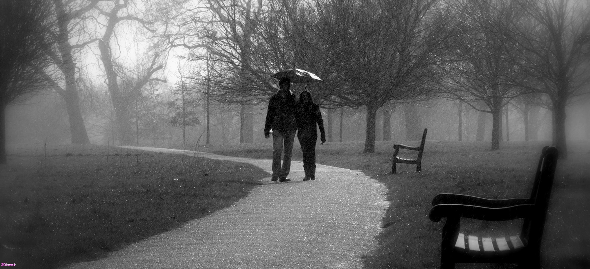 زدن با عکسهای قدم زدن با عشق زیر باران