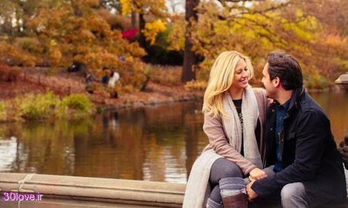 عکس عاشقانه دونفره پاییزی