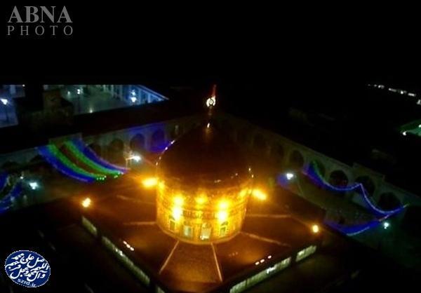 تصویری زیبا از گنبد حضرت زینب (س) در شب میلاد آن حضرت