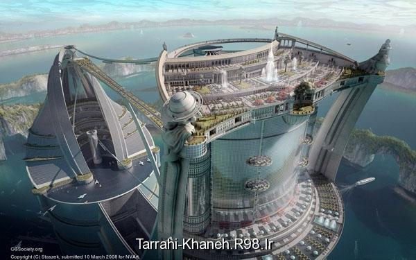 تصاویری خیالی از ساختمان های آینده tarrahi-khaneh