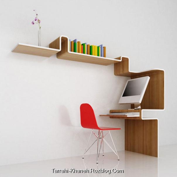 تصاویر  جدیدترین مدل های قفسه کتاب