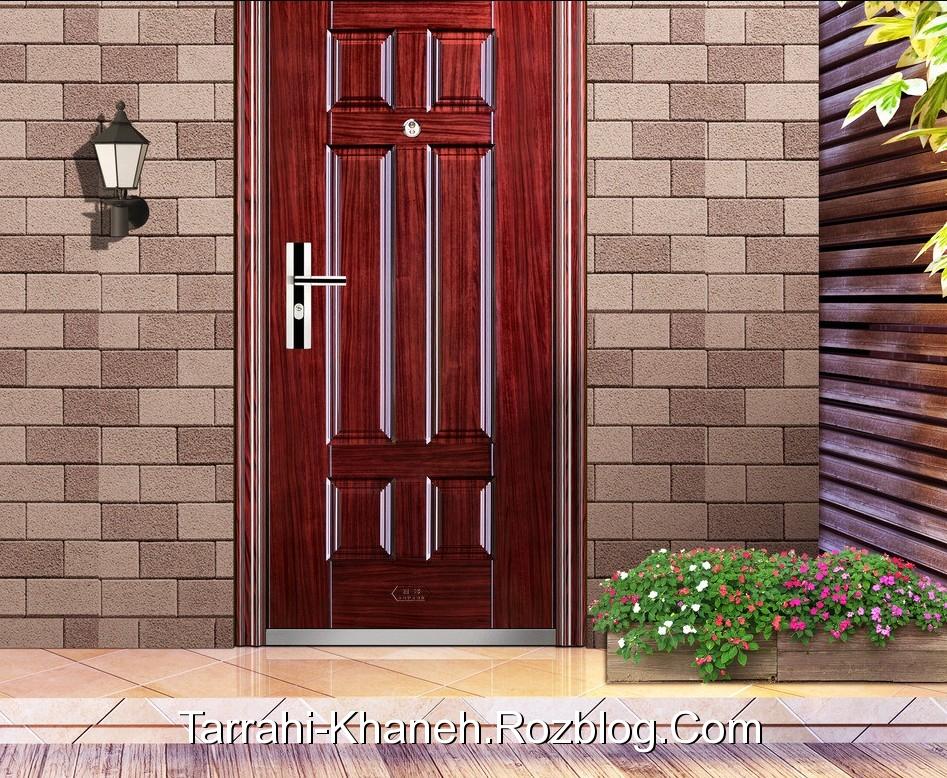 http://rozup.ir/up/tarrahi-khaneh/Pictures/General/door-decoration/Brown-wood-door-and-brick-wall-design-for-villa.jpg