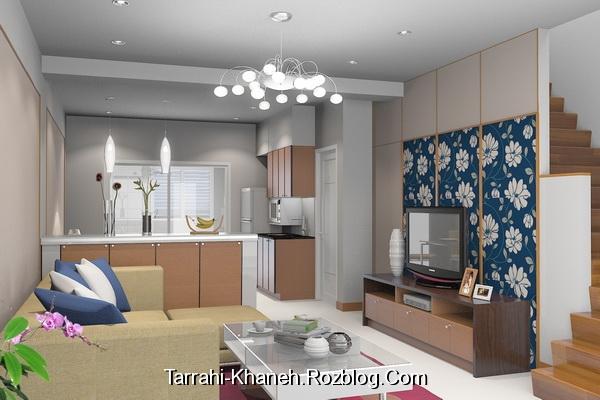 اصول دکوراسیون برای بزرگتر نشان دادن اتاق منبع: سایت طراحی خانه tarrahi-khaneh