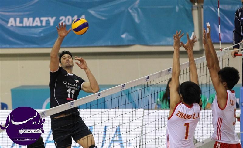 برنامه مرحله یک چهارم نهایی جام کنفدراسیون والیبال آسیا
