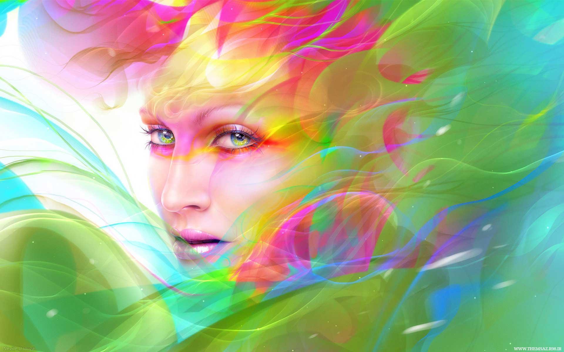 פנים צבעוניות